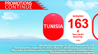 Tunisair Airline Tunisia Promotions And Booking