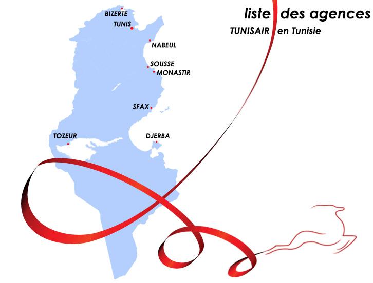 tunisair : les agences en tunisie